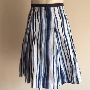 Talbots midi skirt 14 striped